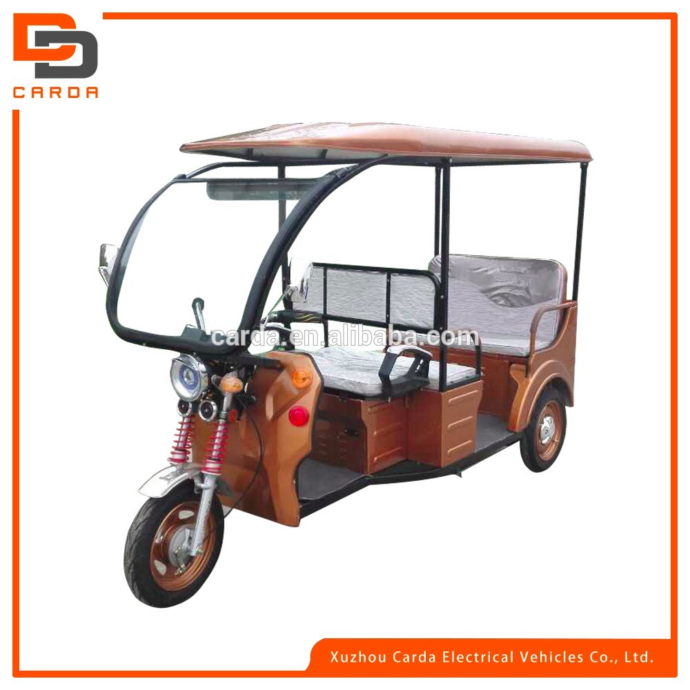 cheap rickshaw/3 wheel electric passenger car/electric 3 wheel motor with roof