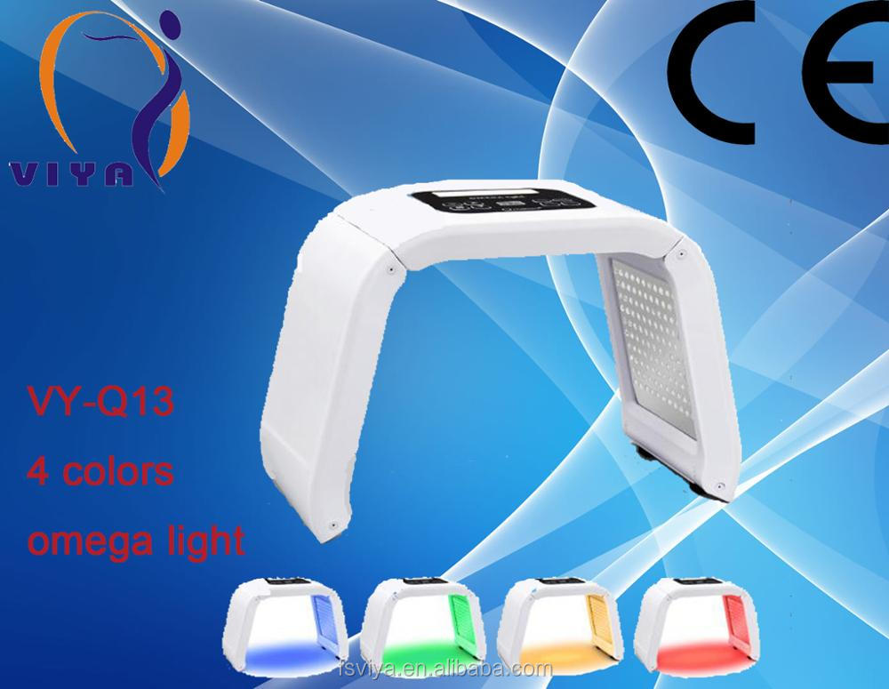 VY-Q13 LED Blue/Yellow/Red/Green light facial therapy machine Best Acne Treatment