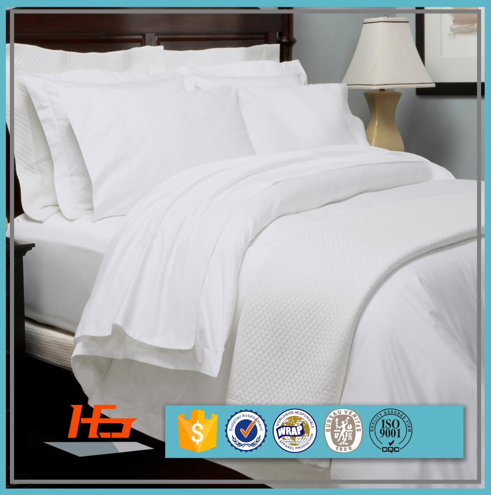 Cotton Woven Hotel Bed White bed Sheet Fitted Sheet Duvet Cover Pillow Cases