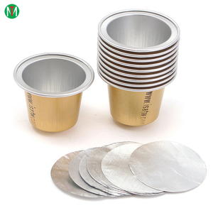 Aluminum foil heat seal lids for K cup coffee cup / sealing nespresso capsules
