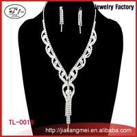 China Factory fashion simple necklace earring jewelry set for women