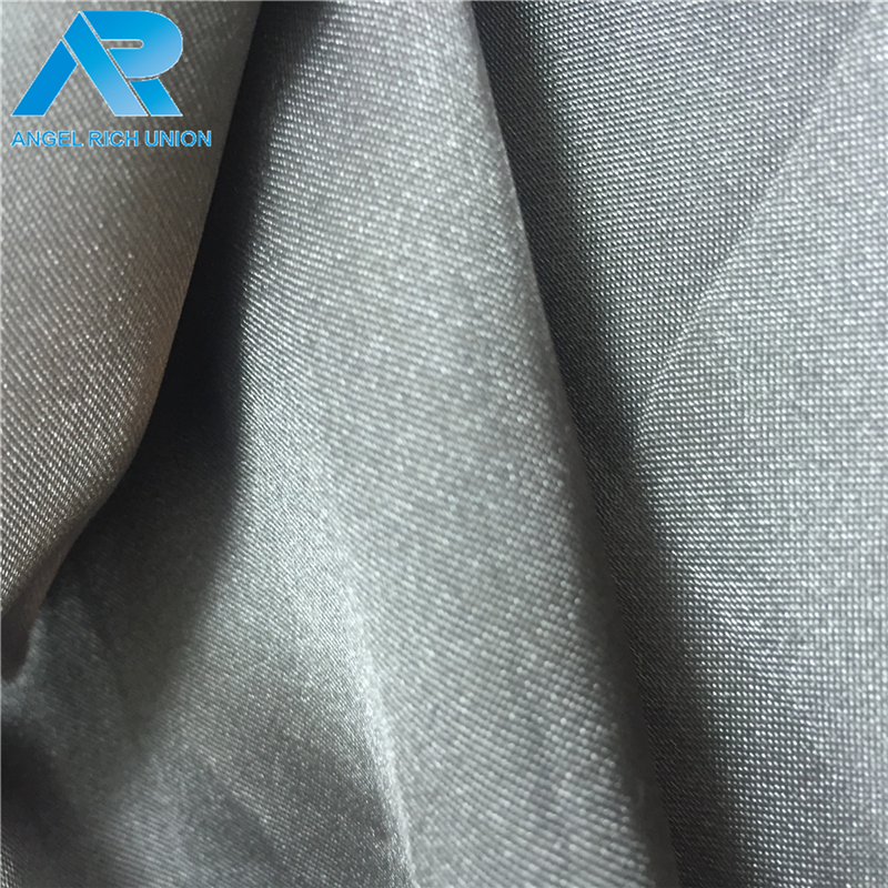 Plastic make to order wedding dress satin fabric woven made in China
