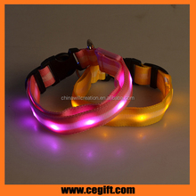 Gem lamp glowing dog collar / waterproof flashing Led pet Collar for night use