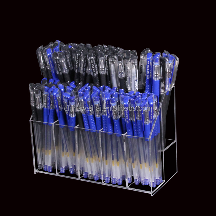 Acrylic Pen Stationery Display Rack