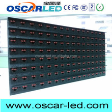 2years warranty p20 outdoor single color high brightness led display module led module red tupe