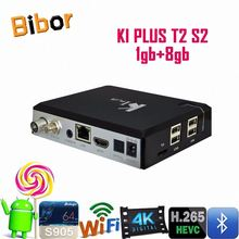 K1 Plus Amlogic S905 Quad Core DVB S2 +DVB T2 Android 5.1 TV Box KI Plus HD Android DVB S2+DVB-T2 TV Receiver