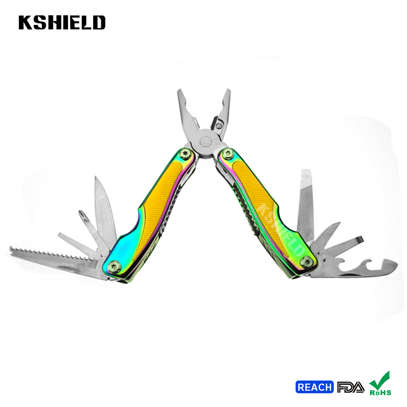 EDC Anti Slip Handle Design Steel Expanding Mini Multitool Combination Pliers