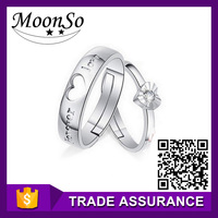 wholesale high quality MOONSO peruvian rings changing color mood ring s letter ring KR687