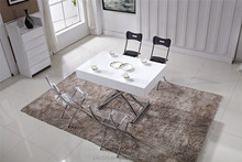 Space saving glass lift top coffee table italian marble coffee table
