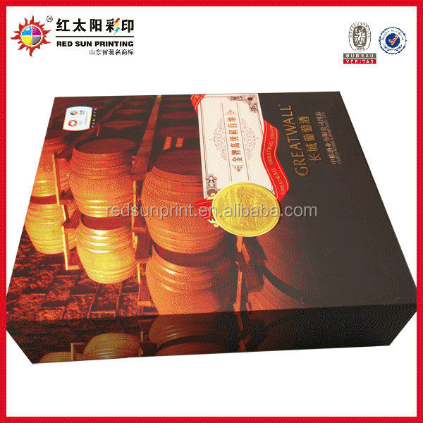 White wine paper boxes for wine wholesale