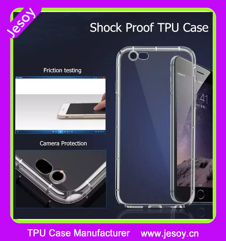JESOY For Apple iPhone 5 6 6S TPU Back Shockproof Bumper Clear Transparent Hard Case