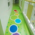 kindergarden corridor customized PVC flooring