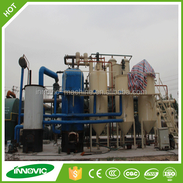 High Oil Yield Waste Black Engine Oil Recycling Distillation Machine For Sale