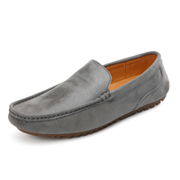 Men's Fashion Slip-on Leather Loafers New Flat Shoes Mens Soft Non-slip Boat Shoes Drop Shipping YZ669