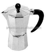 2015 kitchen appliance Aluminum coffee maker 9cups silmming coffee steam boiler / colored aluminum coffee maker