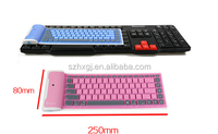 Bluetooth silicone soft keyboard for laptop and tablet pc