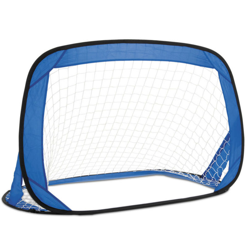 Set of 2 Pop-Up Folding Football Goal Posts in Carry Bag - 120x80x80cm NEW!