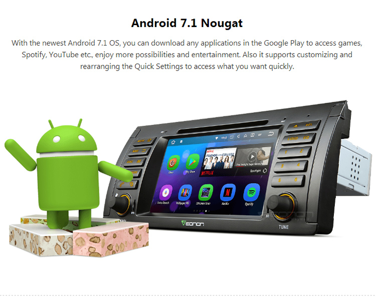 EONON GA8166 for BMW E53 Android 7.1 2GB RAM 7 inch Multimedia Car DVD GPS with Mutual Control EasyConnection