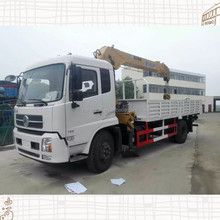 Dongfeng tianjin 4x2 truck with crane/truck mounted crane ,8ton famous crane for sale cheap price