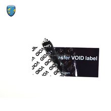 Chinese supplier waterproof feature self-adhesive warranty security open void sticker with anti-counterfeit