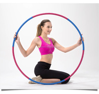 Hot Sale 6 sections 106cm Light Weight Wholesale Cheap Hula Hoop