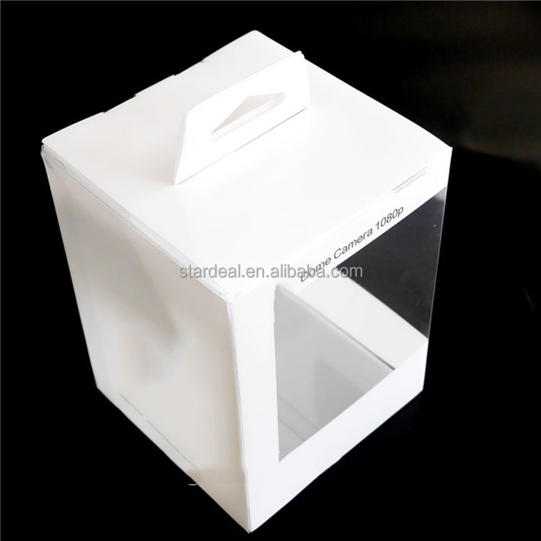 Customize transparent clear blister storage box plastic packaging for camera