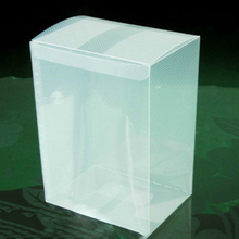 Clear Plastic Folding Gift Packaging Box
