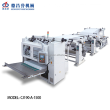 7 line v fold facial tissue paper making machine face tissue folder slitter drawing embossing folding machine