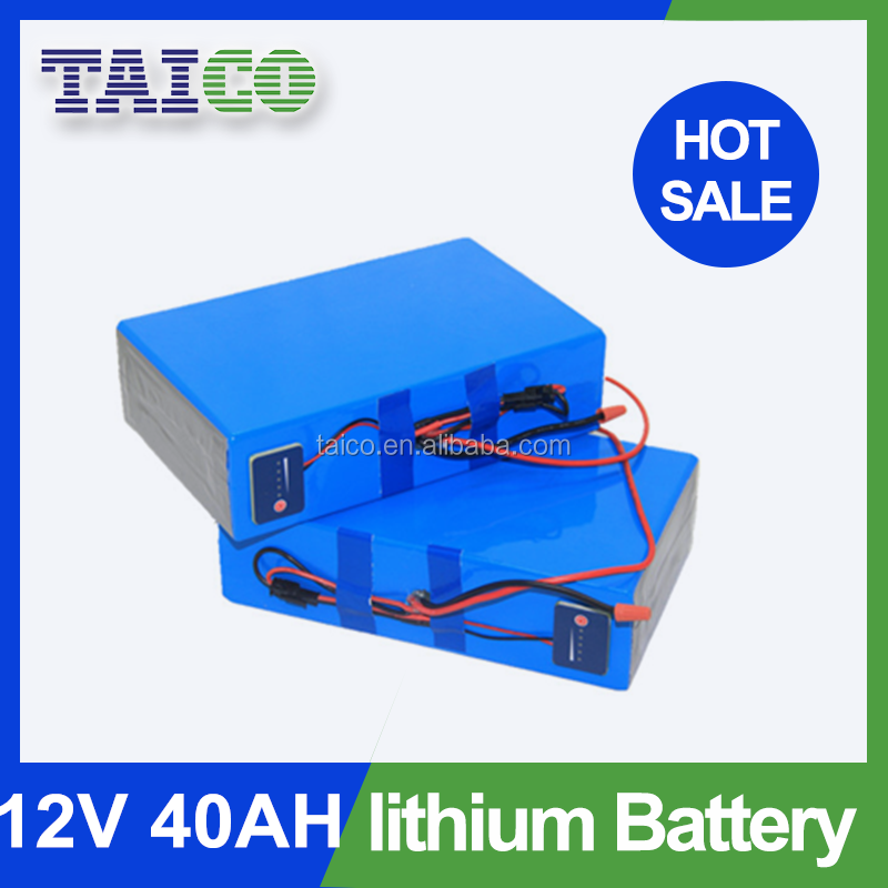 Rechargeable 18650 Li ion Solar 12v 40ah Lithium Battery