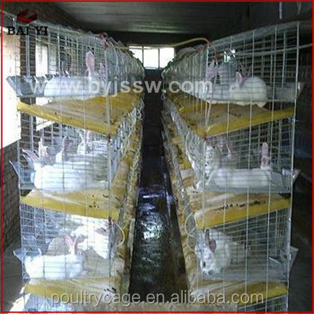 Durable Aluminum Rabbit Breeding Metal Cages(H type ,Made in China)