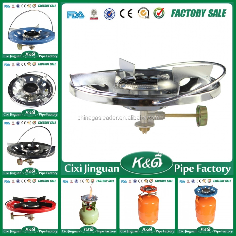 Long Brass Control Valve Commercial Portable Mini Outdoor Gas Cooking Range Stove Mini Single Burner LPG Gas Camping Gas Stove