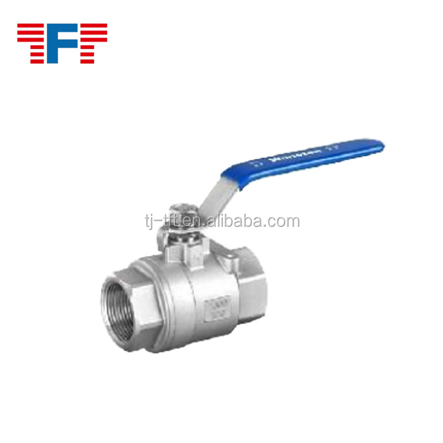 Two piece internal thread ball valve in High Quality
