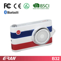 2017 powerbank bluetooth speaker with fm,camera speaker with selfie function