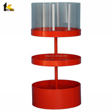 Customized round metal product display stand
