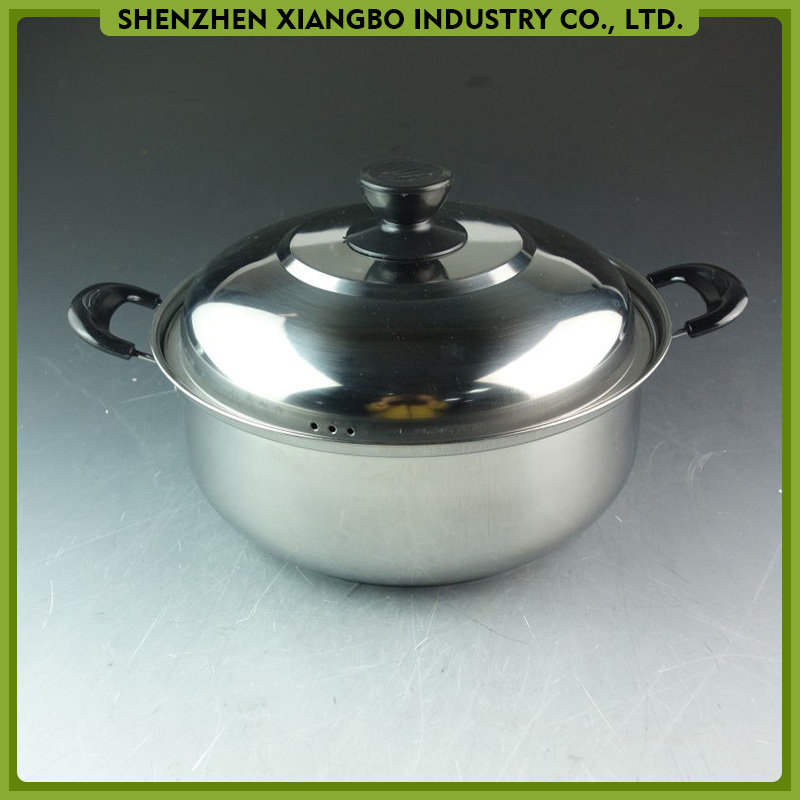 High quality stainless steel sauce pot/stock pot/casserole with lid from China factory