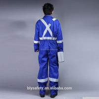 Safety long sleeve industrial coverall overall uniform work wear with reflective tape