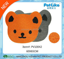 Printed PVC pet mat bear shaped pet dog and cat feeding mat
