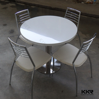 restaurant tables top/ stone round table top/ faux stone table tops
