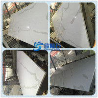 White agglomerated stone slabs calacatta quartz stone