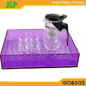 JLP 2016 hot sale customize clear tray, square acrylic tray,cable tray