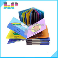 comic child childrens leatherpop up soft cover pastcard art filp stick color bound cheap custom printing book printing