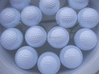 200 pieces professional plain two layer range floating golf ball