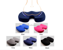 Memory Foam Seat Cushion Brand New Design for More Comfort! Premium Coccyx Sciatica Orthopedic, for Tailbone and Low Back Pain