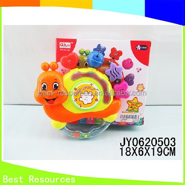 Wholesale Snail Shape Plastic Baby Drum Baby Hand Rattle For Kids