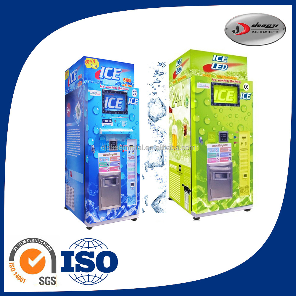 Best Price Iso Certification Cash Function Automatic Self-Service Ice Vending Machine