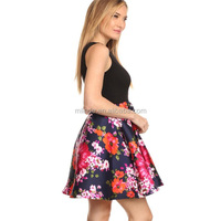OEM Online Shopping Women Trendy Sleeveless Floral Printed Prom Mini Dress Korean Style Alibaba New Fashion Ladies Dress