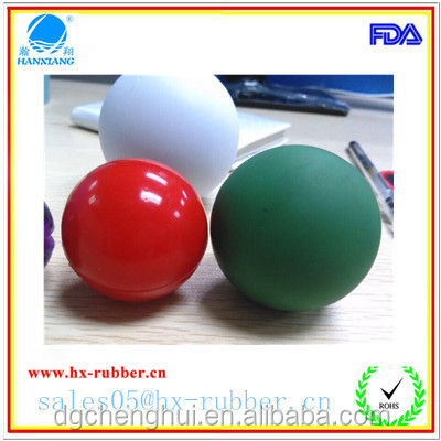 custom natural rubber balls