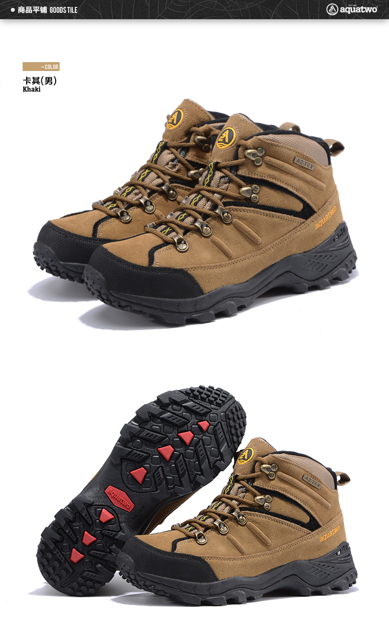 High Quality Aquatwo Brand Suede Leather Mens Hiking Boots For Mens Footwear
