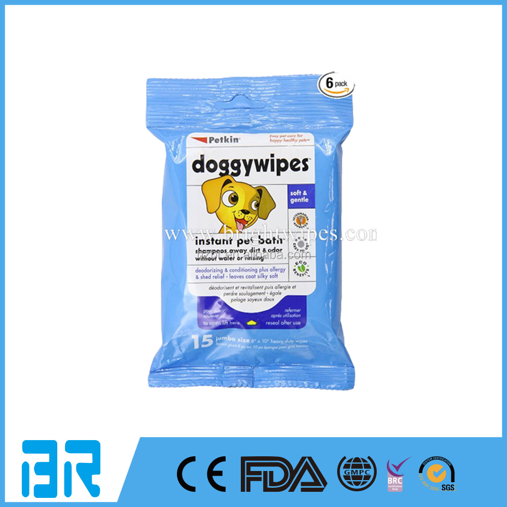 2017 New Design Pet Wet Wipes Dog Clean Ear and Eye Wet Wipes for OEM