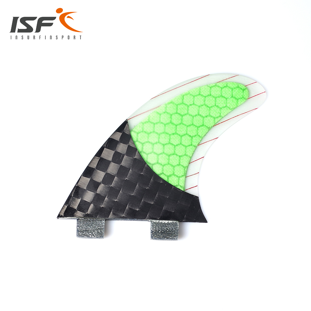 Decorative inexpensive grip half carbon surf fins honeycomb surfboard fins
